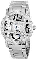 """JBW Women's JB-6214-B """"Olympia"""" Stainless Steel Designer Dial Diamond Watch"""