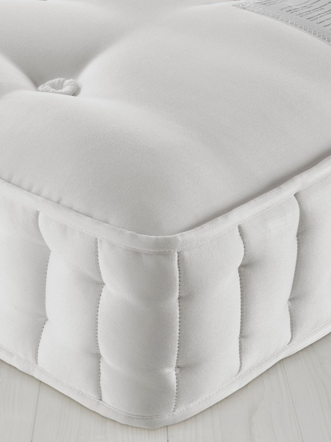 John Lewis & Partners Natural Collection Fleece Wool 8400, Double, Firm Tension Pocket Spring Mattress