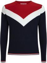 Thom Browne Chevron Crewneck Sweater