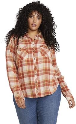 Volcom Women's Getting Rad Plaid Long Sleeve Flannel Shirt