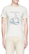 Remi Relief 'Hawaii' dancer embroidered cotton T-shirt