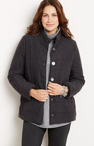 J. Jill Brushed-Flannel Puffer Jacket