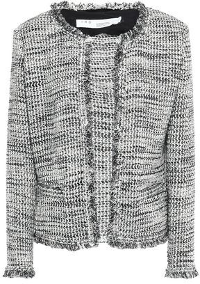 IRO Unplug Frayed Metallic Boucle-tweed Jacket