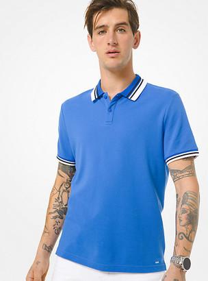 Michael Kors Cotton Pique Polo Shirt - Pop Blue