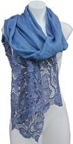 Terra Nomad Women's Elegant Silky Scarf with Lace Detail