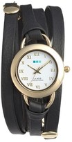 La Mer 'Saturn' Leather Wrap Bracelet Watch, 22mm
