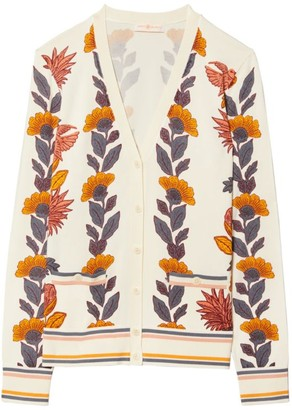 Tory Burch Madeline Floral Print Cardigan