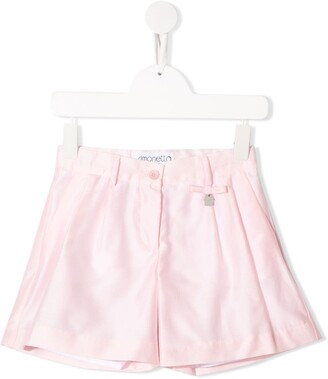 Simonetta Pleated Detail High-Waisted Shorts
