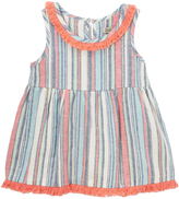 Lucky Brand Bright White Stripe Fringe-Accent Top - Toddler