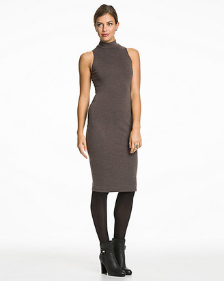 Le Château Ponte Mock Neck Midi Dress