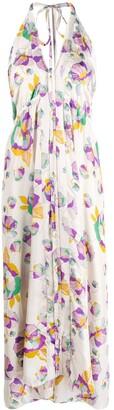 Isabel Marant Raizama halterneck floral print dress