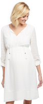 Motherhood Textured Tassel Detail Maternity Dress