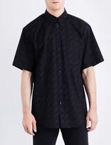 Balenciaga Logo-print regular-fit cotton-poplin shirt