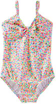 Osh Kosh OshKosh Mini Heart Print Swimsuit