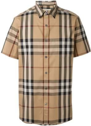Burberry shortsleeved checked shirt