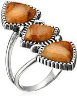 Barse Sterling Silver and Sponge Coral Ring, Size 7