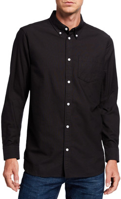 Wesc Men's Oden Solid Contrast-Button Sport Shirt