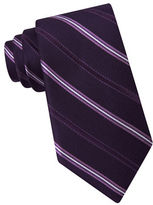 Michael Kors Straton Striped Silk Tie