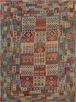 Arshs' Fine Rugs Kilim Arya Ronald Flatweave Hand-Woven Wool Southwestern Rug