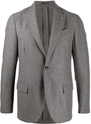 Lardini Long Sleeve Cashmere Blazer