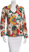 Tory Burch Floral V-Neck Tunic