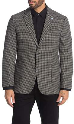 Ben Sherman Black Houndstooth Two Button Notch Lapel Suit Separates Sport Coat