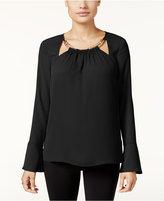 Thalia Sodi Bell-Sleeve Hardware Top, Only at Macy's