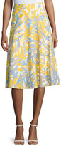 Lafayette 148 New York Nevada Printed Linen Skirt, Dandelion