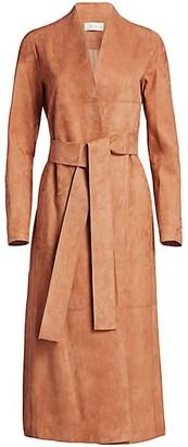 The Row Luisa Suede Coat