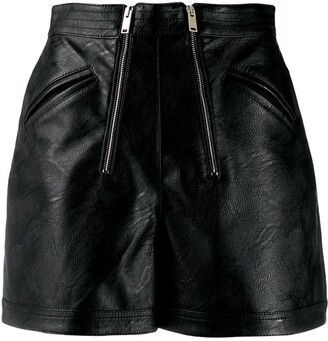 Stella McCartney Faux-Leather Shorts
