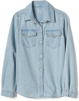 Gap 1969 Studded-Pocket Denim Shirt