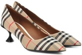 Burberry Lillyton checked canvas pumps