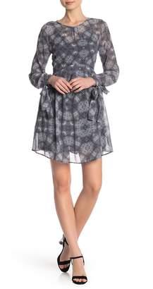 Sam Edelman Animal Patterned Tie Sleeve Dress