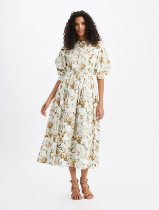 Oscar de la Renta Cotton Poplin Shirt Dress