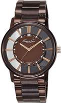 Kenneth Cole New York Men's KC9047 Transparent Clear Ion-Plating Round Watch