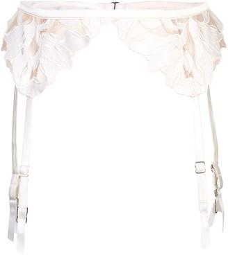 Fleur Du Mal Lily Lace garter belt