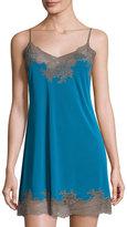 Natori Enchant Lace-Trim Chemise, Seaport Blue