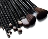 JLO by Jennifer Lopez Glow Black 12 Pc Make up Brushes Set with Crocodile Leather Design Case