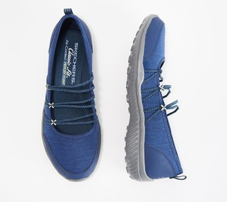 Skechers Heathered Bungee Strap Mary Janes - Be-Light