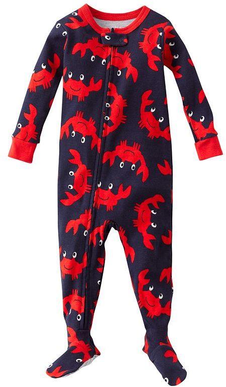Carter's crab footed pajamas - baby