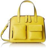 Orla Kiely Textured Leather Bay Bag