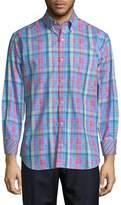 Tailorbyrd Men's Multicolor Plaid Cotton Button-Down Shirt