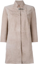 Fay Clasp-fastening coat - women - Leather - M