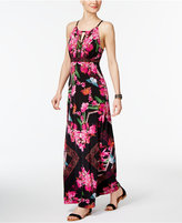 INC International Concepts Butterfly-Print Maxi Dress, Only at Macy's