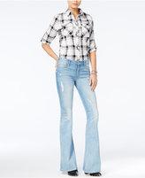 Hudson Mia Cotton Ripped Flare-Leg Jeans