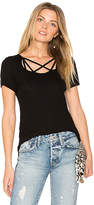 Michael Lauren King Strappy Tee in Black. - size S (also in XS)