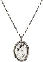 Monique Péan Women's Oval Pendant Necklace-WHITE
