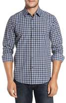 Robert Barakett Men's Axel Regular Fit Check Sport Shirt