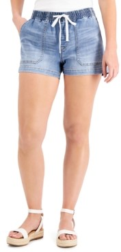 INC International Concepts Inc Drawstring-Waist Denim Shorts, Created for Macy's