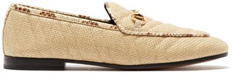 Gucci Jordaan Leather-trimmed Matelasse Loafers - Beige